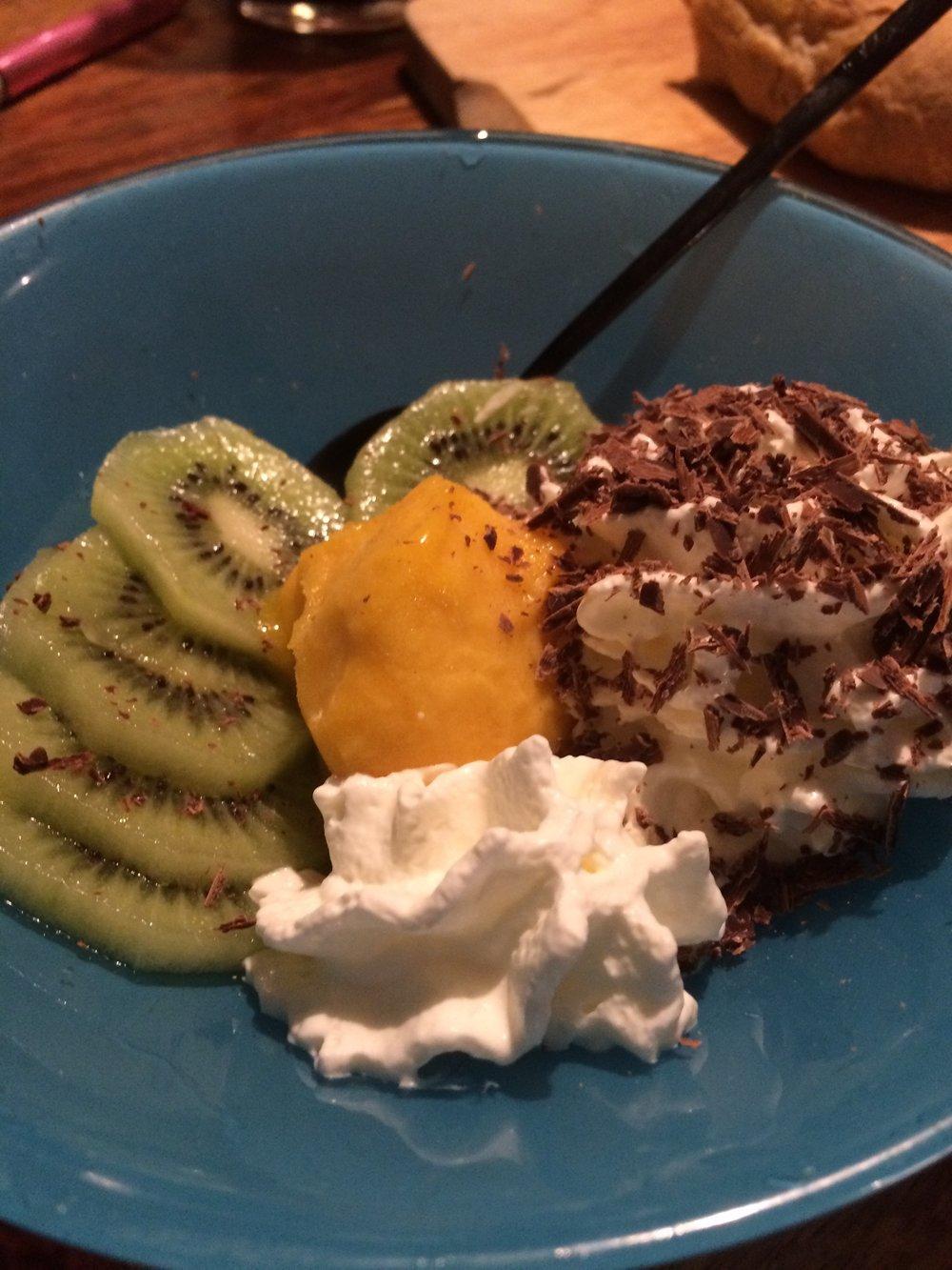 Dessert with Margot