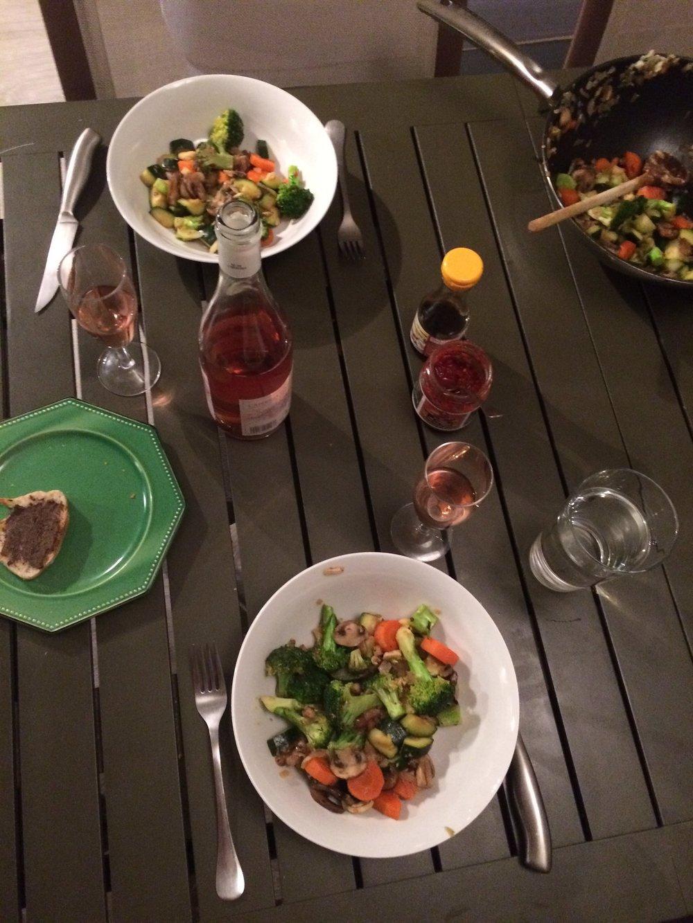 Dinner with Solène