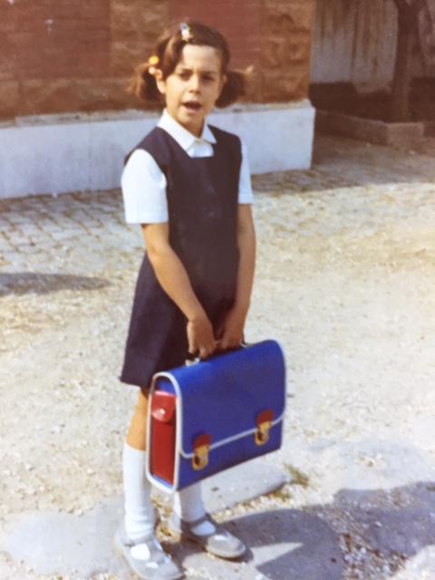 Enveloped in catholic-school-uniform blue. mysteries abound in mediation land.