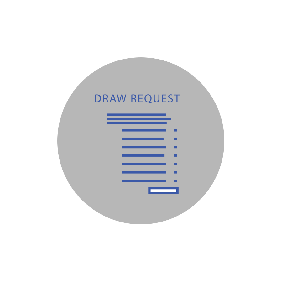 COLLECT INVOICES With all invoices in one place, it is easy to process draw requests.