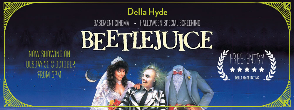 Della Hyde Basement Cinema Beetlejuice Halloween