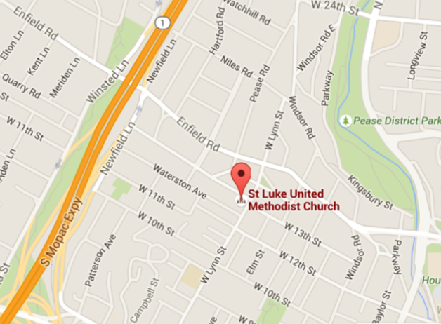 The Center is located directly behind St. Luke United Methodist Church on 14th Street.