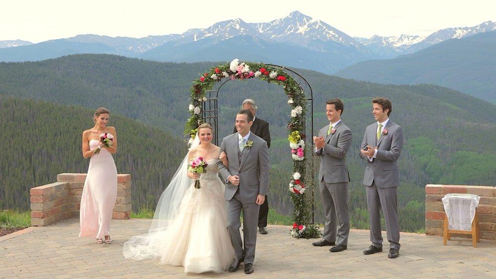 Stephanie & Eric - Vail Wedding Deck - Game Creek Club