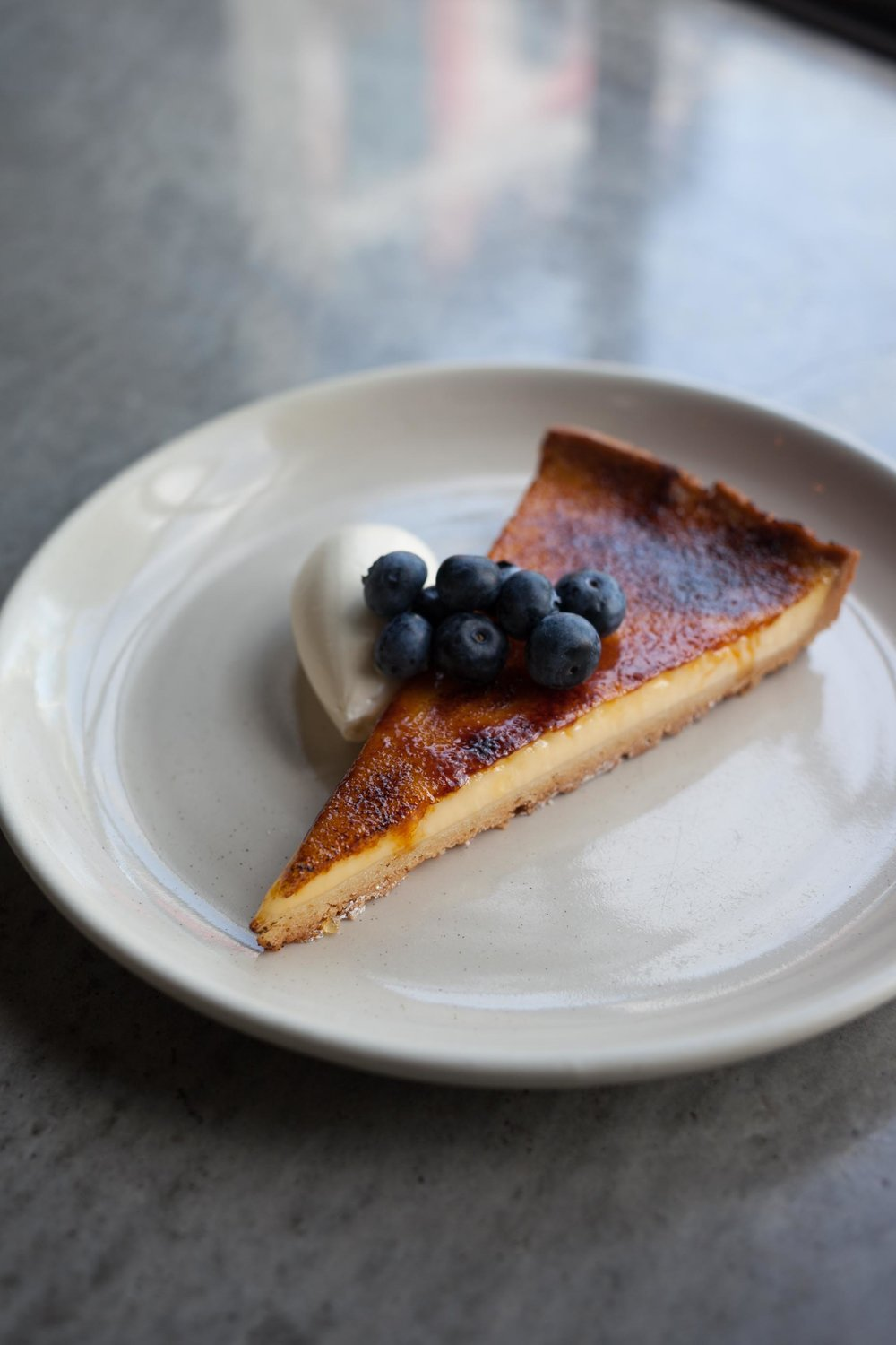 Glazed Lemon Tart with fresh blueberries
