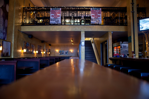 Long view of downstairs bar
