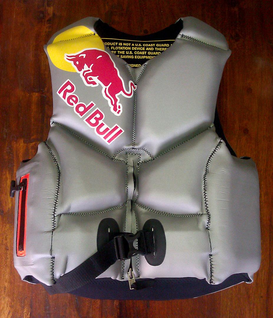 Tecniq-built HydroZOTE™ life vest worn by Ian Walsh
