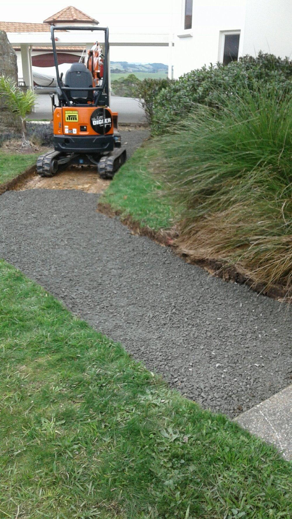 Matakana:Pathway   Cutting new pathways before the winter rain sets in