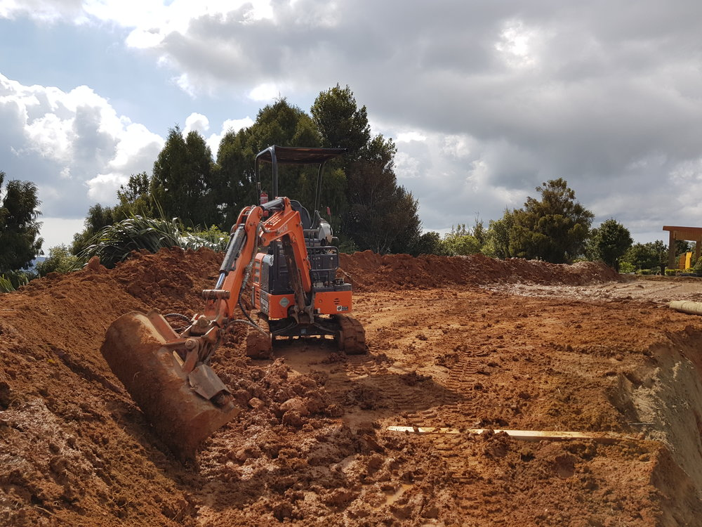 Matakana   Creating a bund to protect the house from the wind and shall create a bit of privacy.
