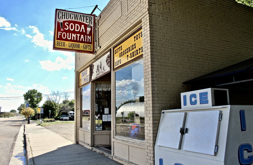 The outside of the Soda Fountain looks as classic as can be