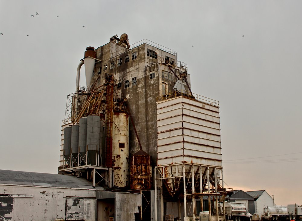 The Ault grain elevator just after a storm