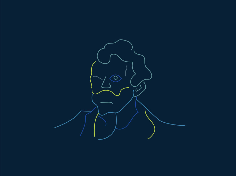 Van Gogh - This is a 1 minute animation about Van Gogh`s life story. I use continue line to create the feeling of life and time passing. I also use the classic Van Gogh color palette for this project. Deliverables: Illustration, AnimationArt Direction: Sean Brodbeck
