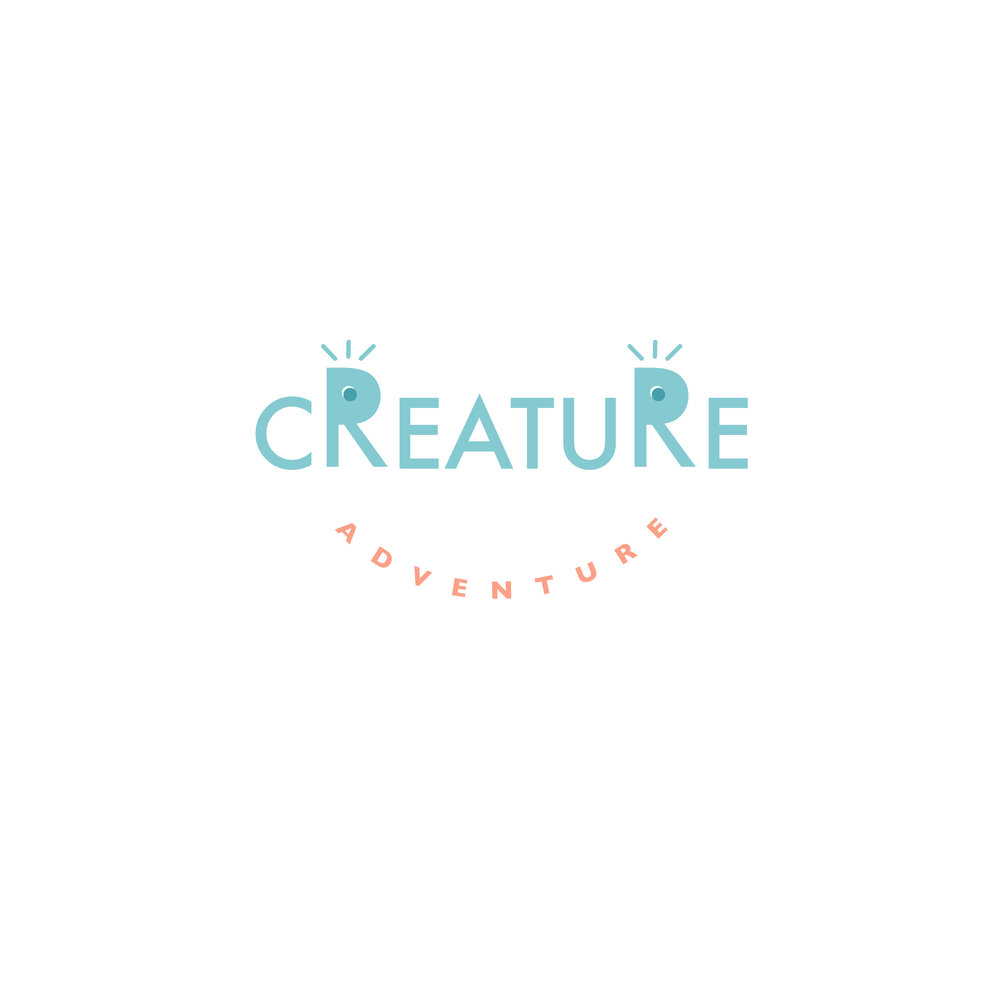 Creature Adventure - Creature Adventure is a summer camp program.  The concept of the logo is to let kids go exploring and experiencing. Because it has the concept of