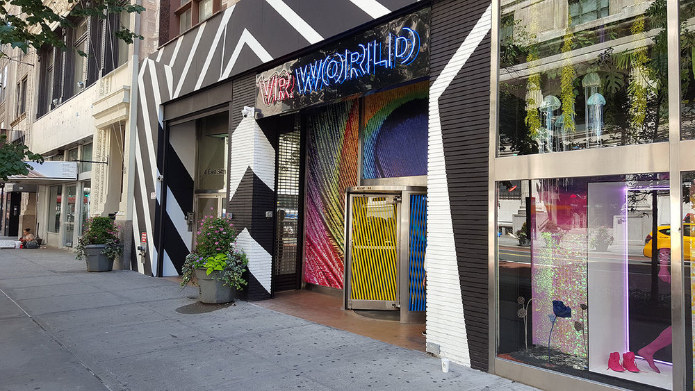 Street view of VR World, just steps away from the Empire State Building