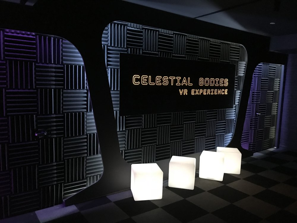 Celestial Bodies queuing area
