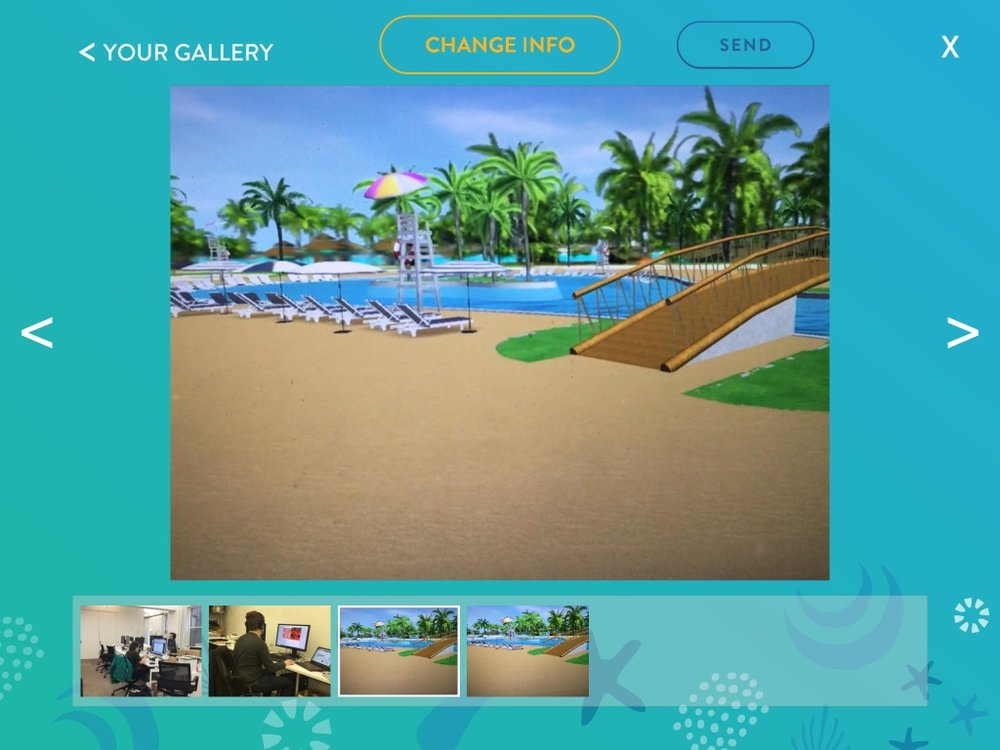The application gallery where users could view their photos and videos.
