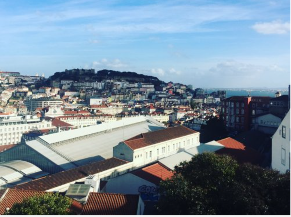 Miradouro (look-out point) from Bairro Alto, Lisbon
