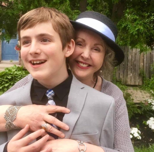 Elva with her Grandson Cal at his Grade 8 grad.