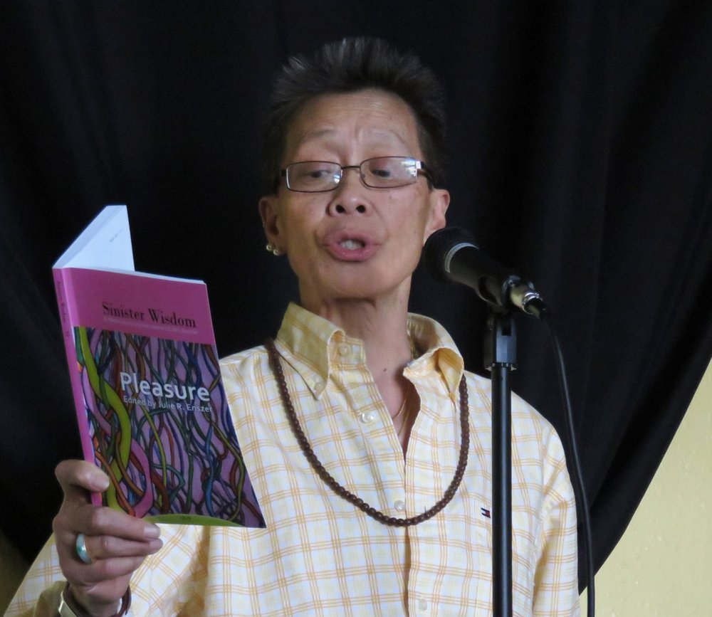 """Kitty Tsui Kitty Tsui is a poet activist and an activist poet. Her 1983 groundbreaking """"Words of a Woman Who Breathes Fire"""" was the first book by a Chinese American lesbian; her second """"Breathless – Erotica"""" won the Firecracker Alternative Book Award. Collected in over 80 anthologies worldwide, she has written for magazines and newsweeklies. Midsummer Night's Press and Sinister Wisdom will reprint """"Words of a Woman Who Breathes Fire"""" as a Sapphic Classic along with new poems, """"Nice Chinese Girls Don't,"""" in January 2019. Out since 1973, she was one of the original members of Unbound Feet, the first Asian American women's performance group."""