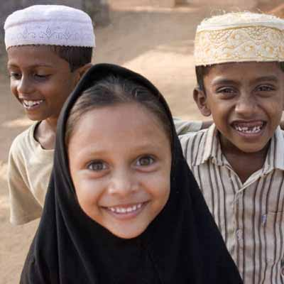 three-muslim-children