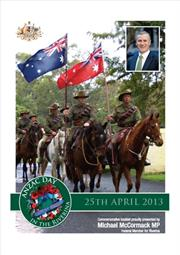 3013 Snowy Mountains ANZAC Day Booklet