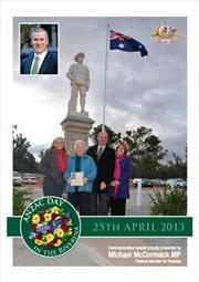 2013 South West Slopes ANZAC Day Booklet