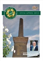 2013 MIA ANZAC Day Booklet