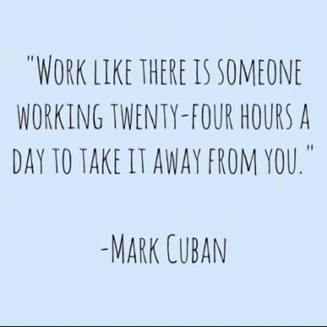 Make it your labor of love #sweat #grind #diligence #energy #performance #elite #strength @mcuban