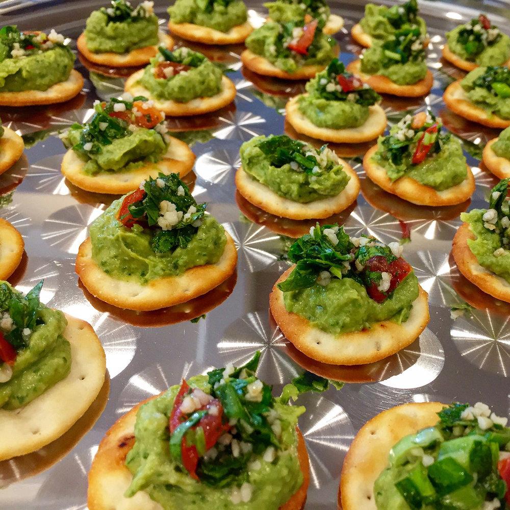 Avocado Hummus Appetizer