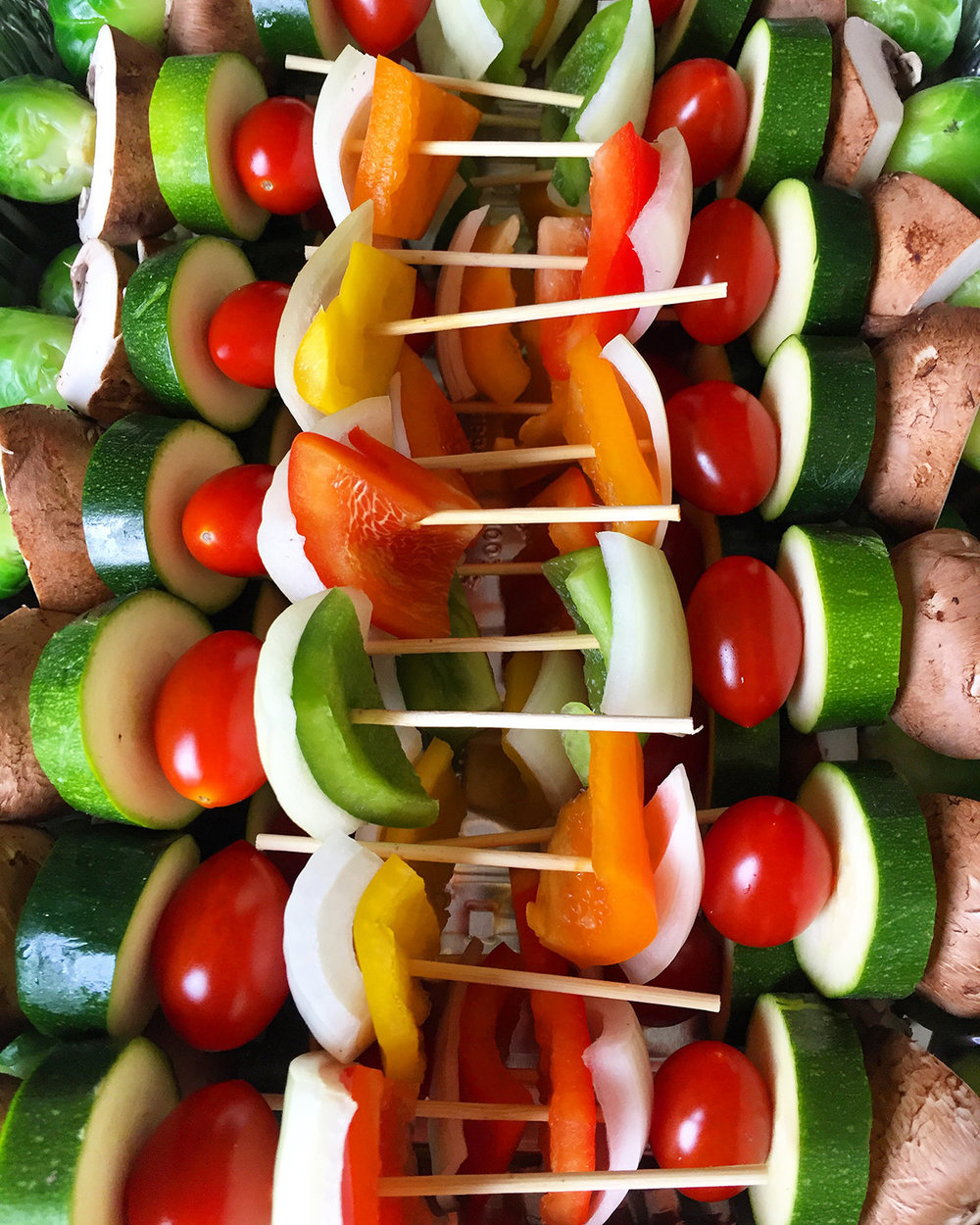 Raw Vegetable Skewers