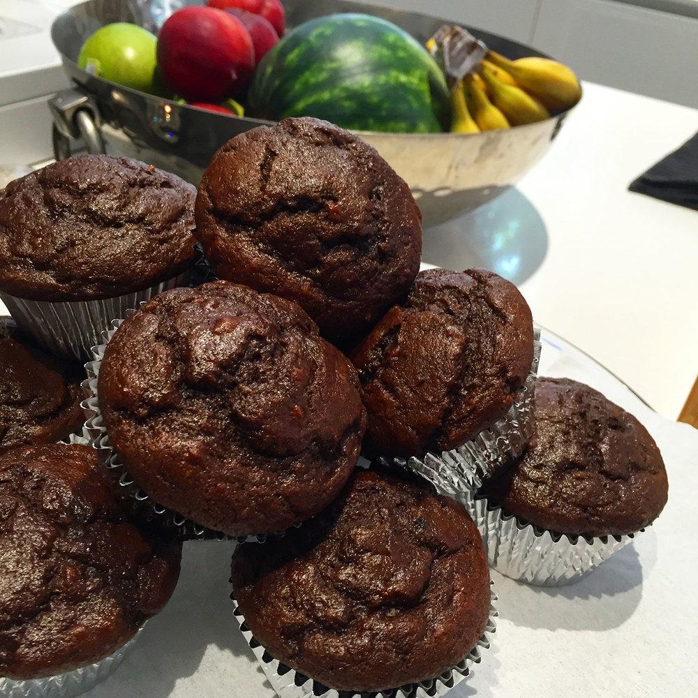 Gluten Free Chocolate Chia Muffins