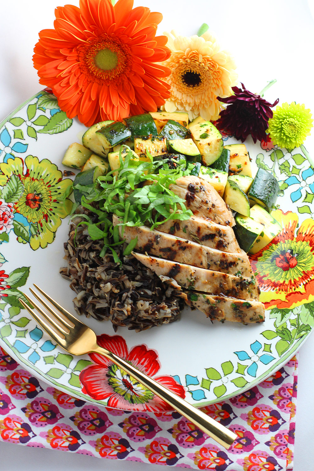 Chicken Paillard with Wild Rice