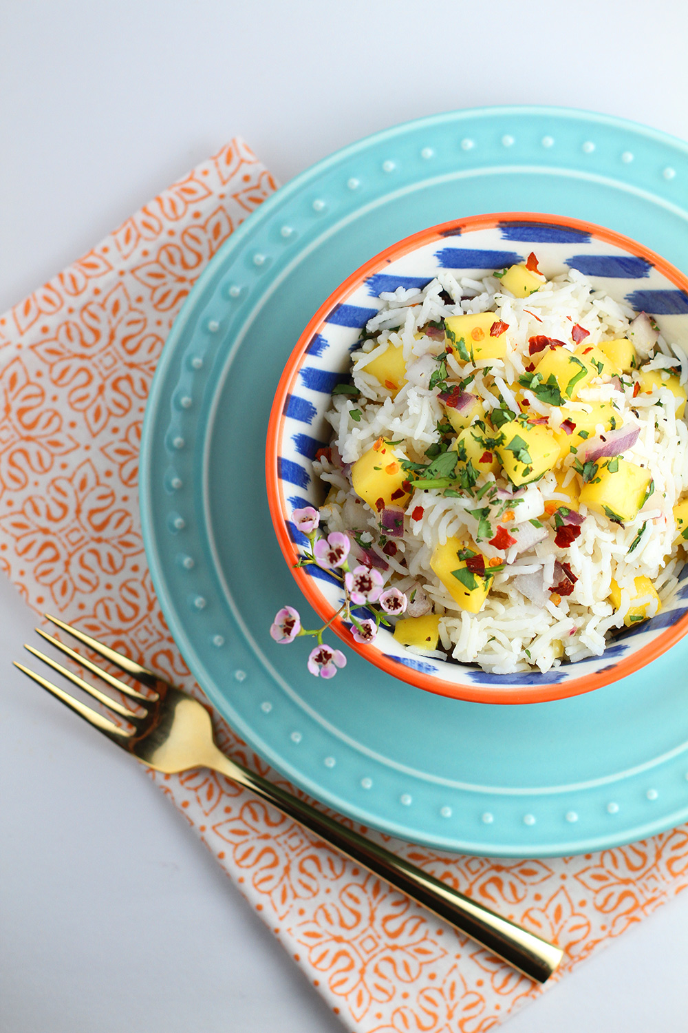 Coconut Rice with Mango Salsa