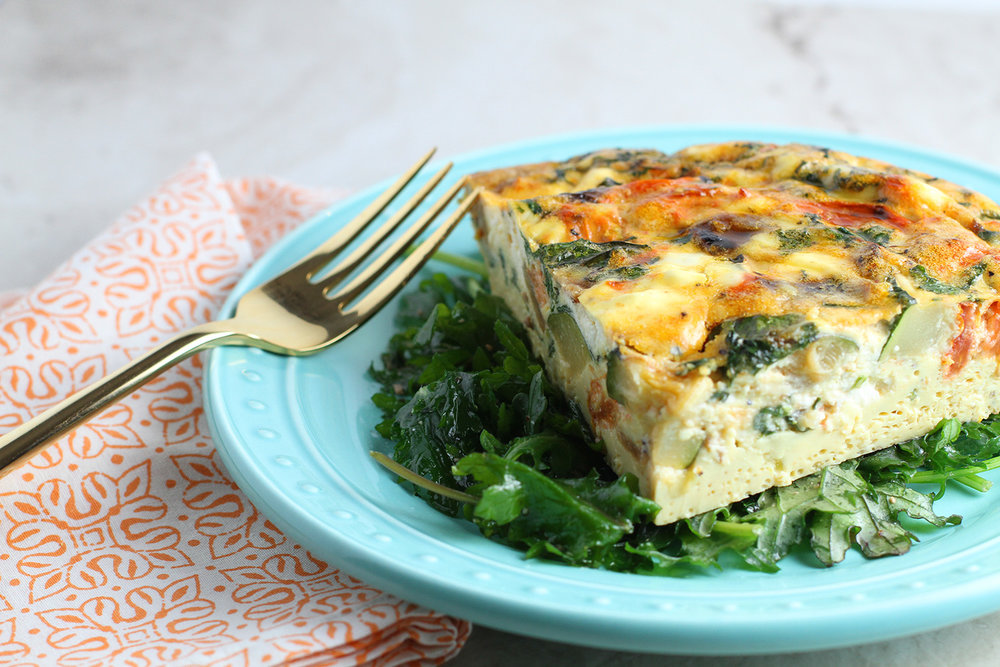 Veggie Frittata with Goat Cheese