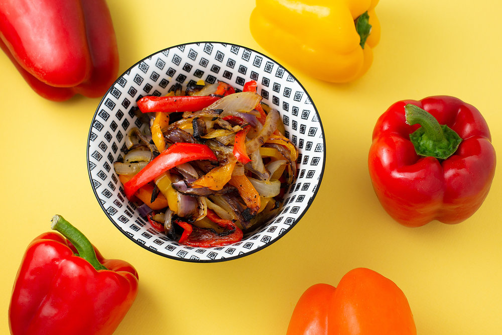 Grilled Fajita Peppers and Onions