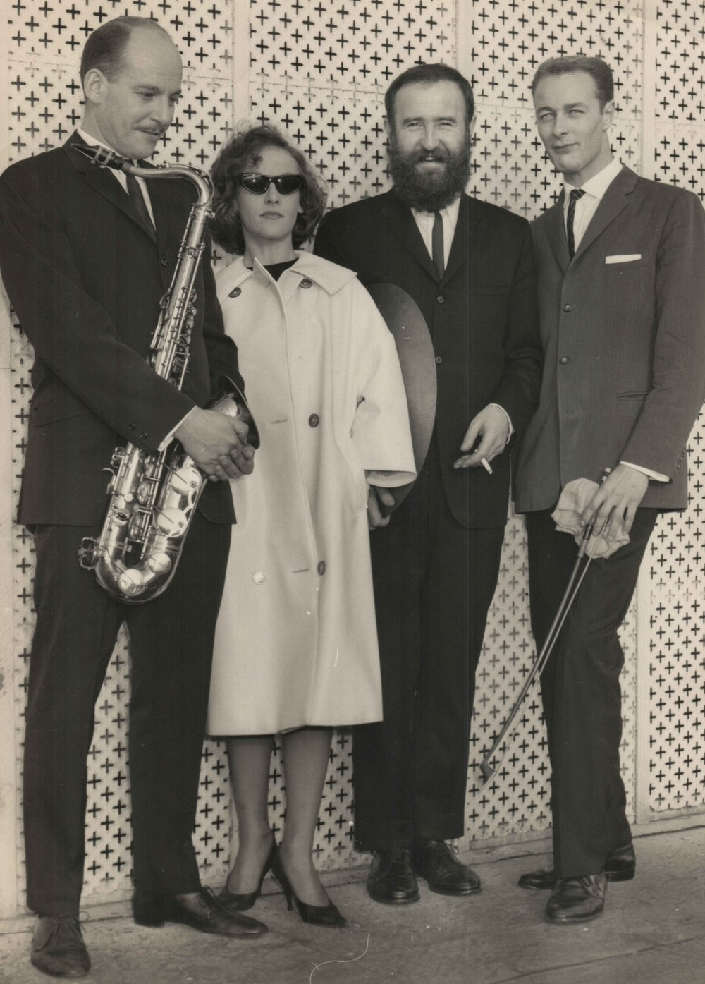 L-R, Errol Buddle, Judy Bailey, John Sangster, Mike Ross