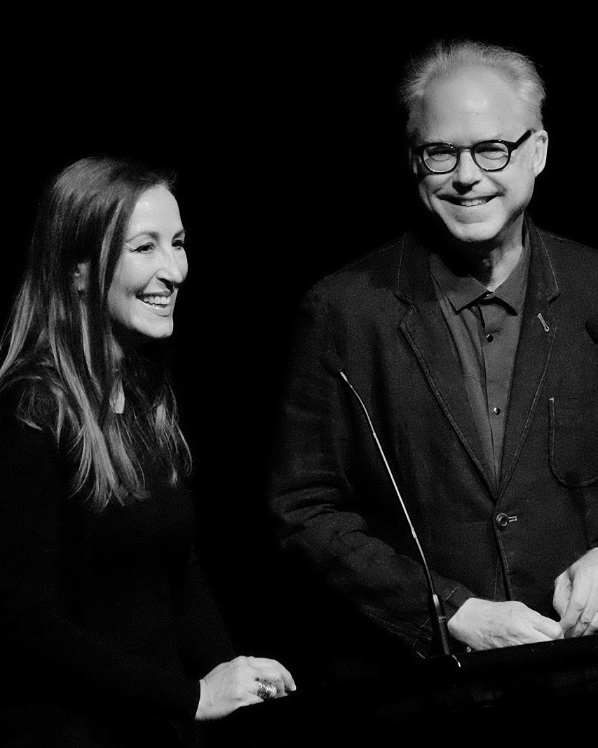 Emma Franz (left) with Bill Frisell in Melbourne, Australia  Photo credit Roger Mitchell Ausjazz.net