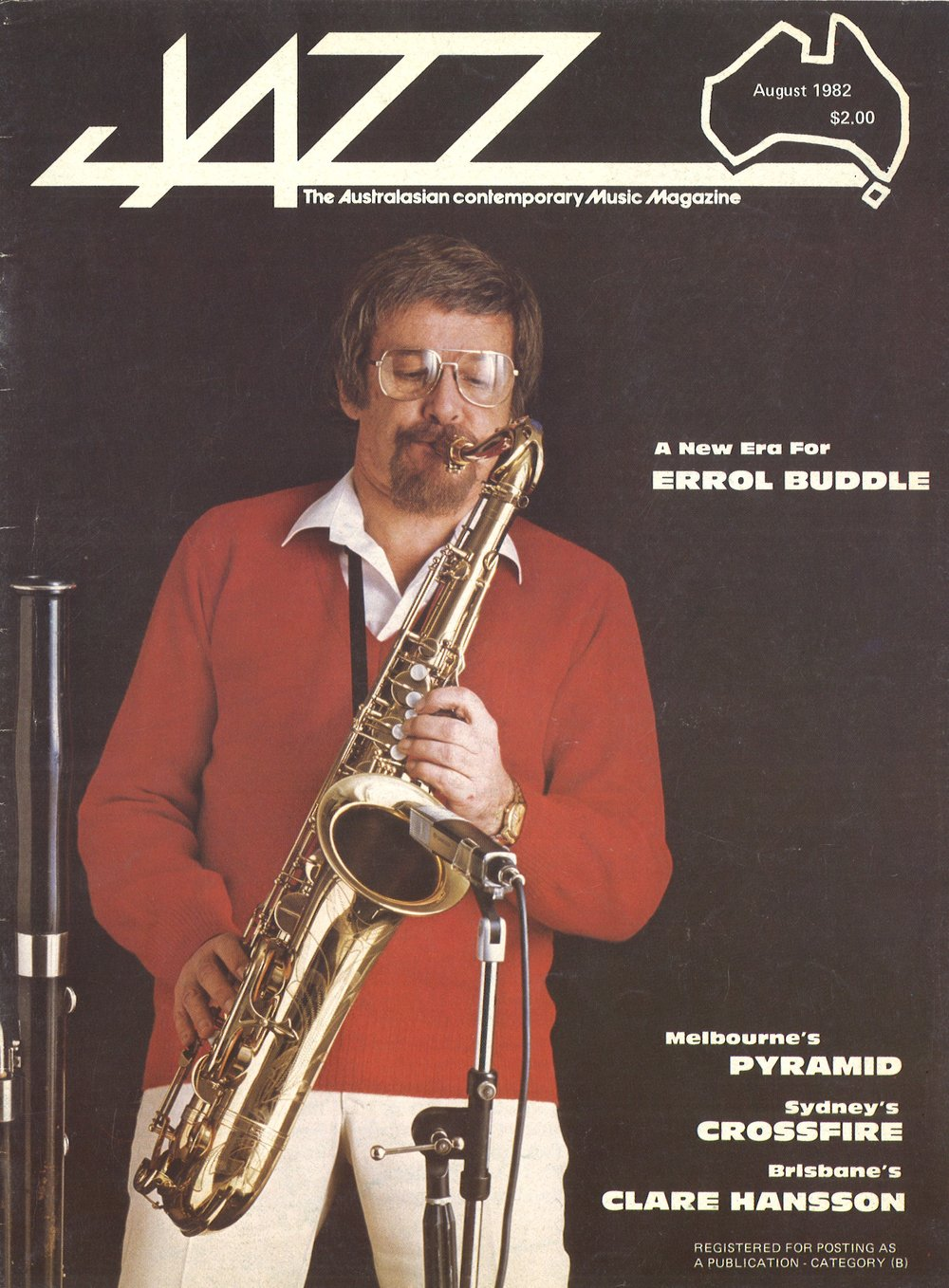 Errol Buddle on the cover of Jazz Magazine in 1982