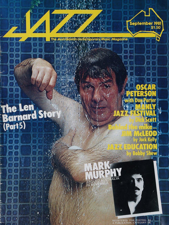 Len Barnard on cover of Jazz Magazine
