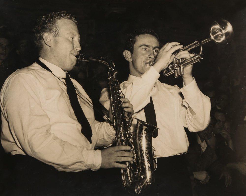 Frank Smith (left) & Ron Falson  Photo copyright Ron Falson Archive
