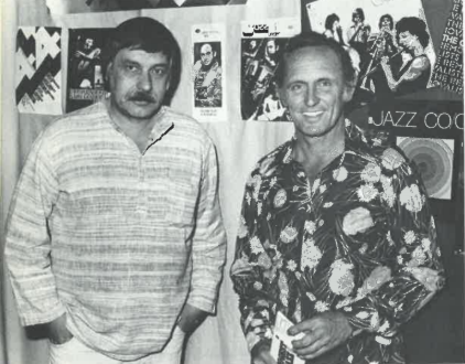 Horst Liepolt (left) with Don Burrows