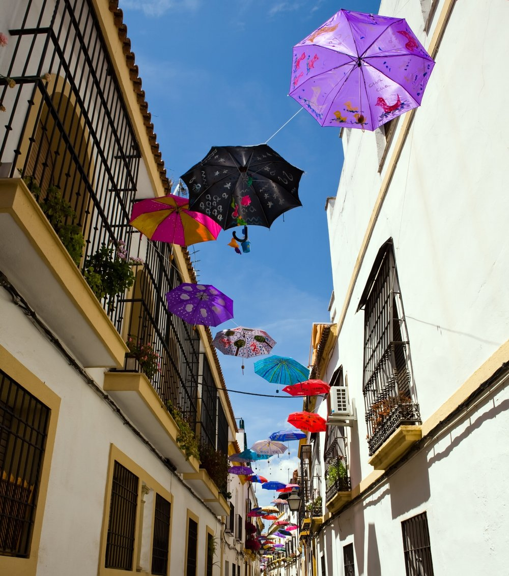 Streets of the Judería during festivals