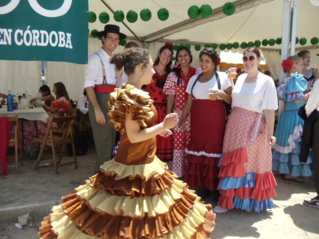 at the PRESHCO booth--romeria in Canete.jpg