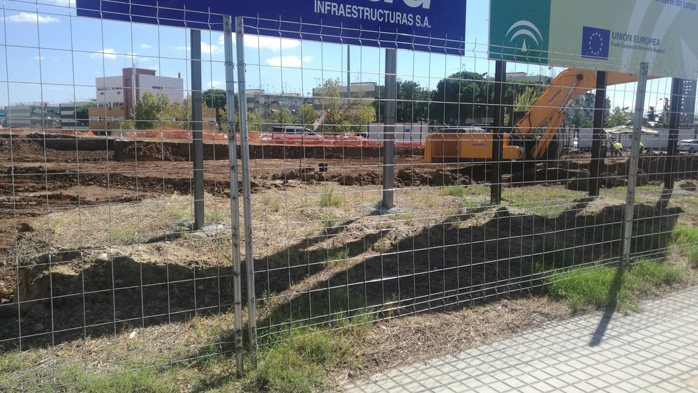 Excavation site.