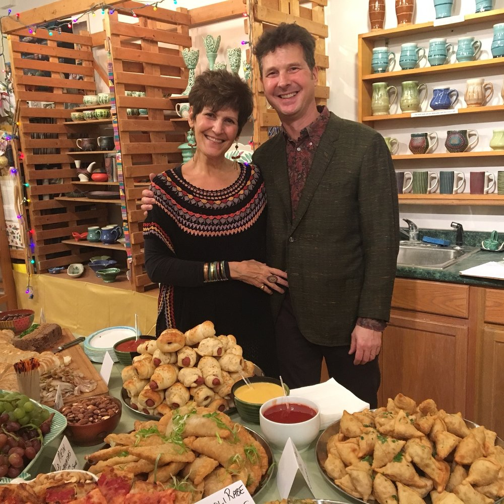 Sandi & Neil at the 2017 Opening Party of their Annual December Show & Sale