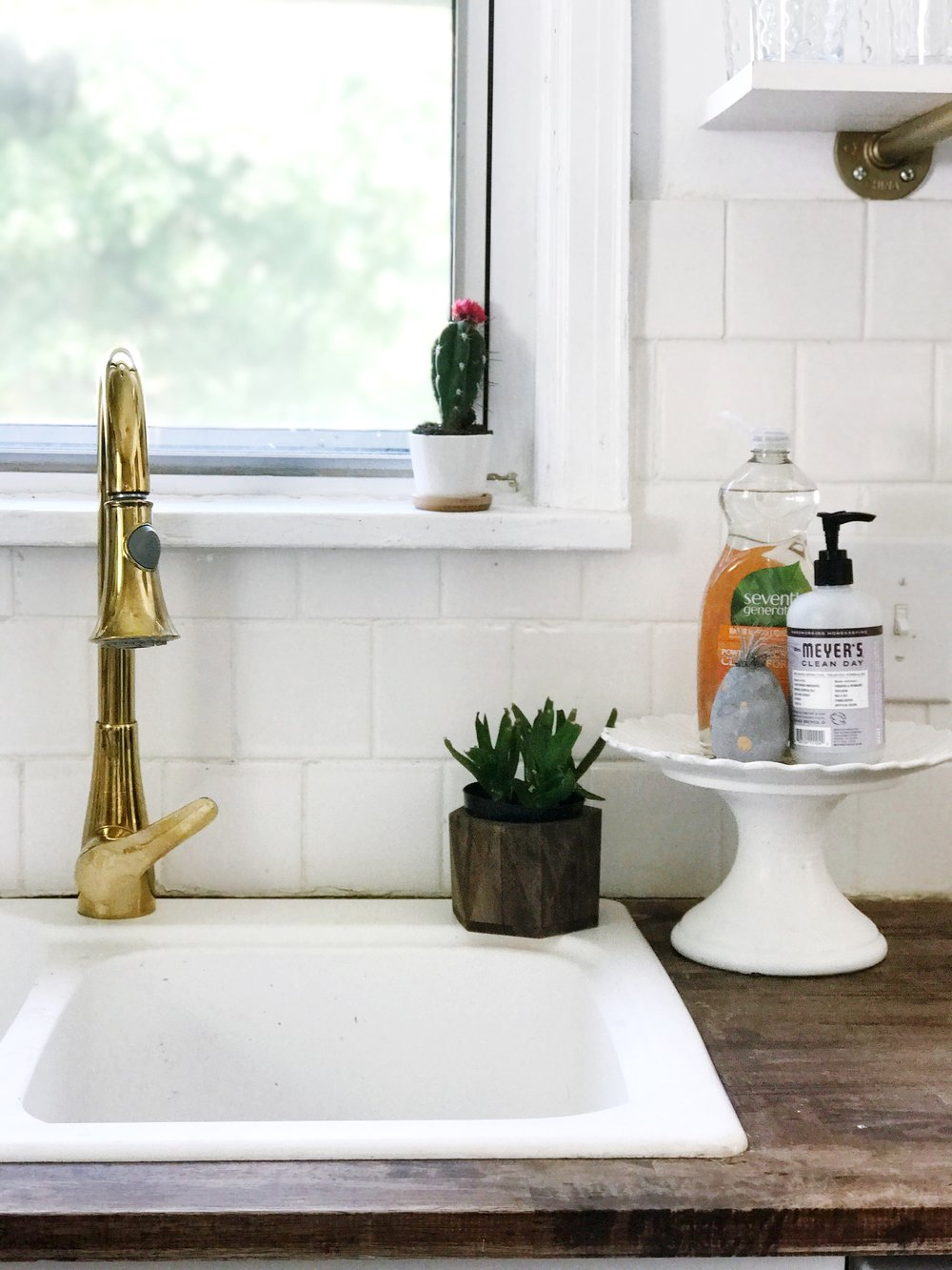 This faucet was the item I was the most excited about! I had seen them in magazines and Pinterest and could not wait to add one to our home. I found ours on Amazon for $105!