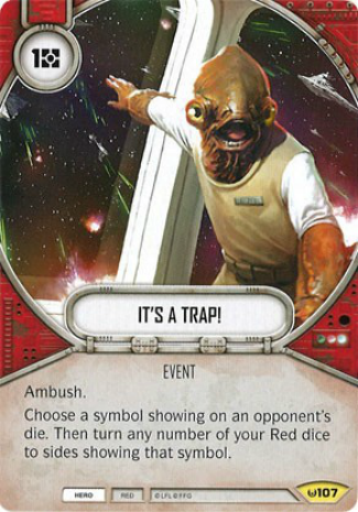 Ambush means you can take an additional action this turn. You can turn all your dice to blasters and resolve them for damage before your opponent can do anything.