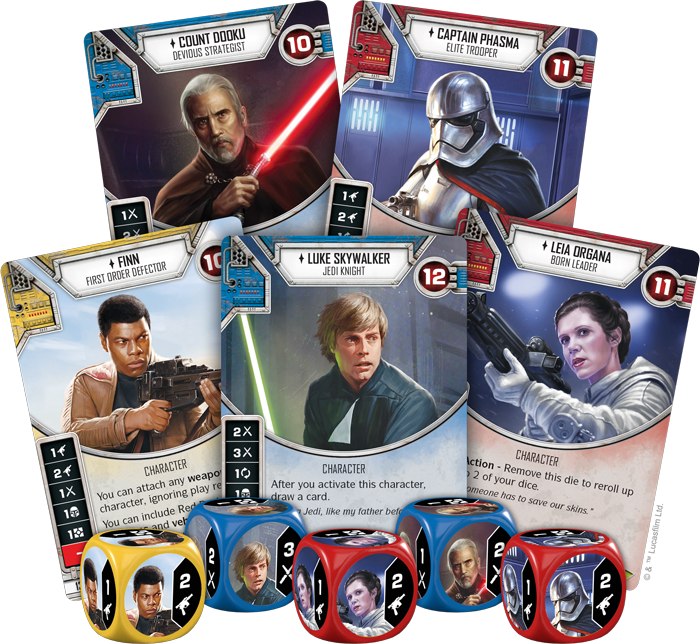 There are so many characters to choose from the entire Star Wars universe. (Photo by Fantasy Flight Games)