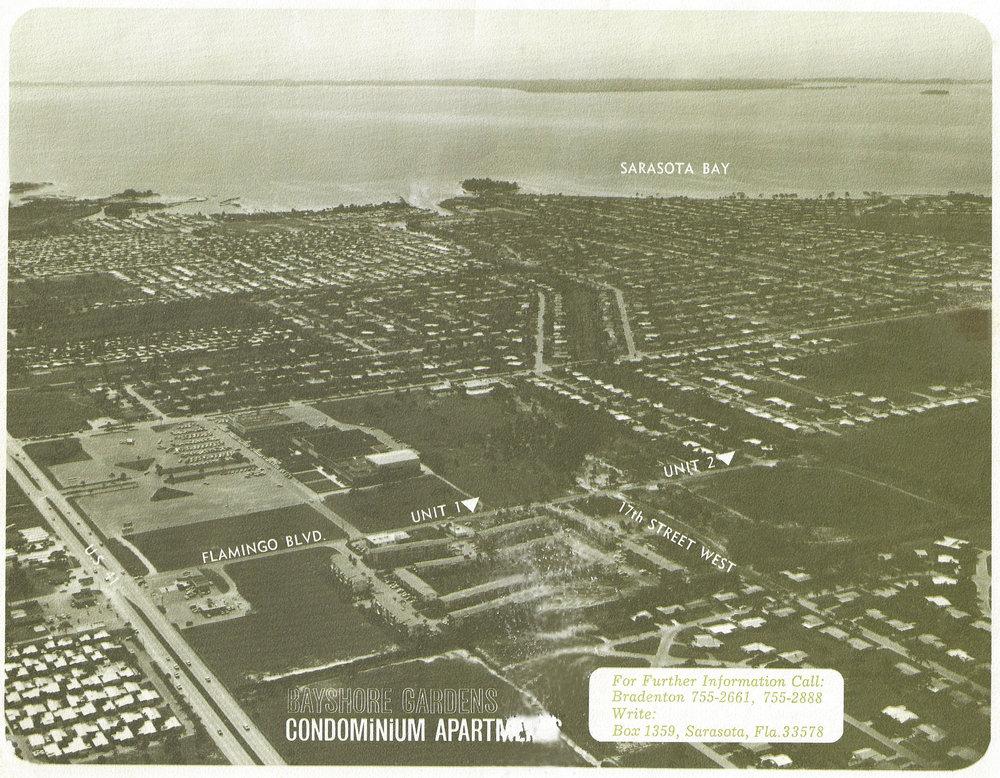 Aerial photo of Bayshore Gardens