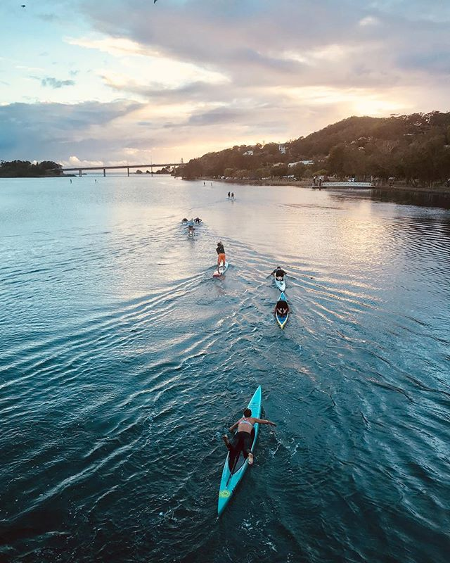 The best part of the morning... when the sun rises and the session is almost done 🌅 .  It's so nice to be back training for an actual goal again. A crazy one at that... @molokai2oahu in July. Let the long paddles begin 🙌🏼