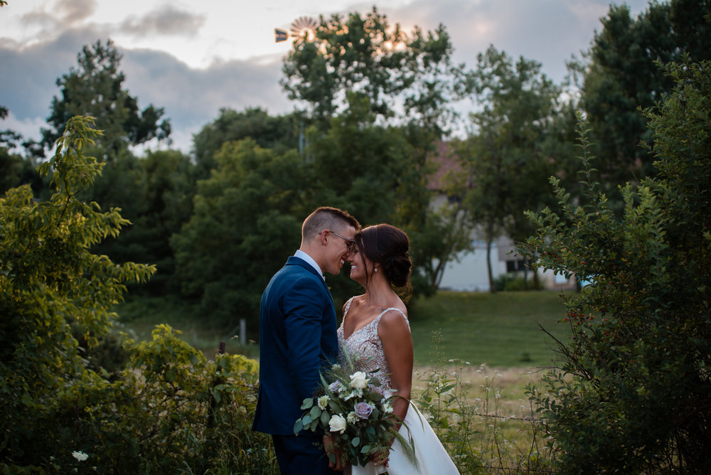 Romantic wedding in Sun Prairie, WI